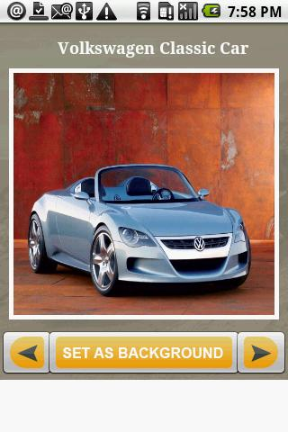 Volkswagen Cars Gallery wall Android Personalization