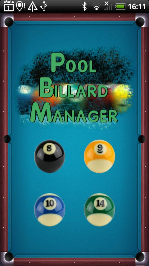 Pool Billard Manager Android Sports