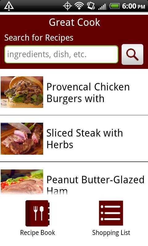 Great Cook Recipes Android Lifestyle