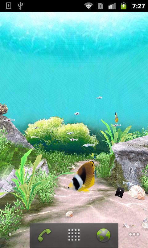 3D Aquarium Live Wallpaper Android Personalization