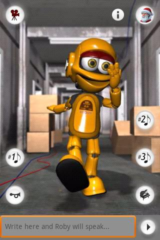 Talking Roby the Robot Android Entertainment