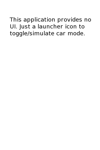 Car Mode Control Android Tools