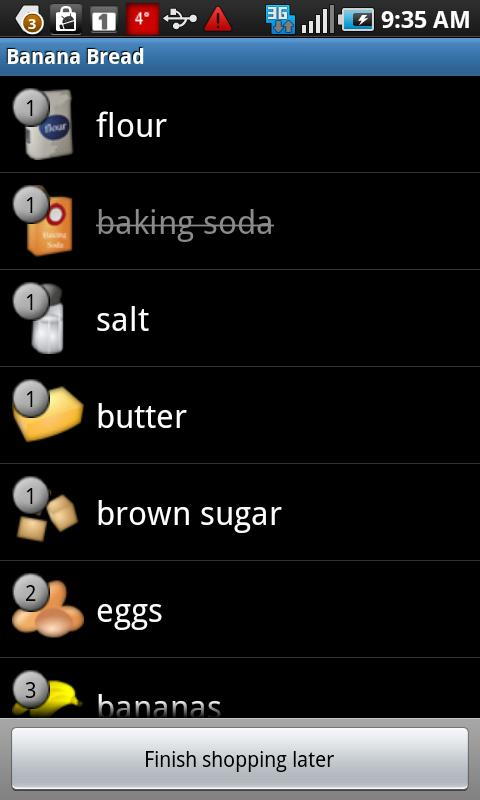 GroceryPro Android Shopping