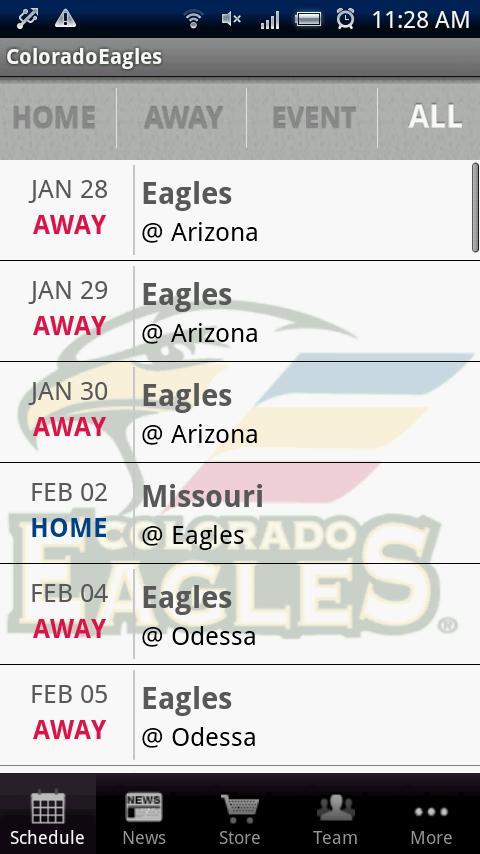Colorado Eagles Android Sports