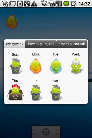 Garbage day widget Goodie ver. Android Lifestyle
