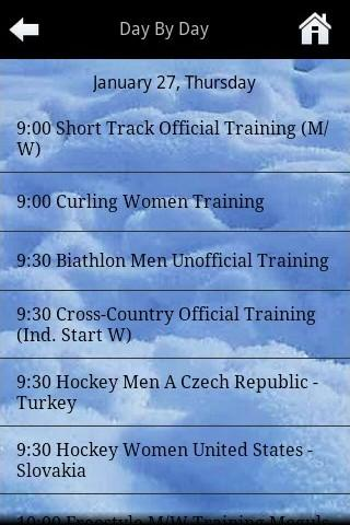 Universiade 2011 Calendar Android Sports