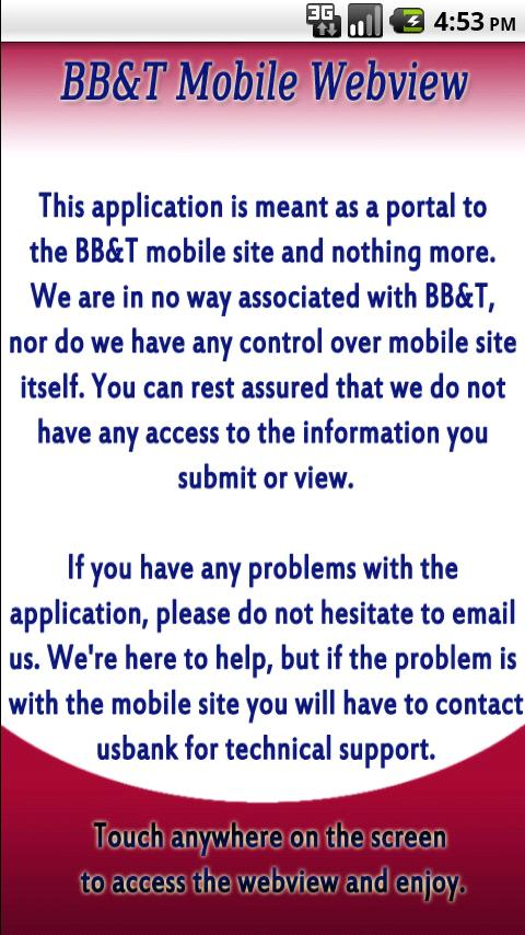 BB&T Banking Mobile Webview Android Finance