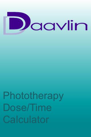 Daavlin Phototherapy Calc Android Books & Reference