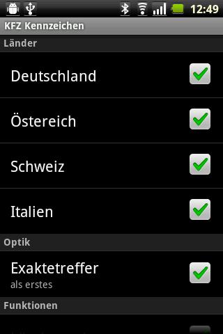 KFZ Kennzeichen[D/A/CH] Android Transportation