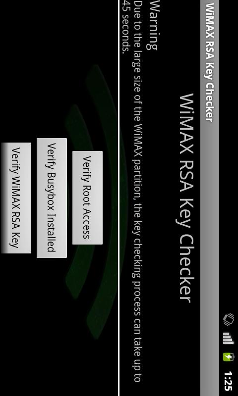Wimax Keys Checker Android Tools