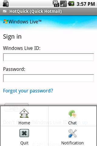 HotQuick (Quick Hotmail) Android Communication