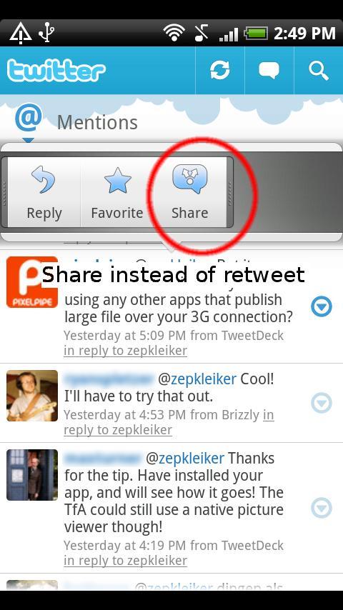 ReTweet (Twitter helper app) Android Social