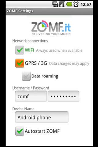 ZOMF music, photo & video sync Android Tools