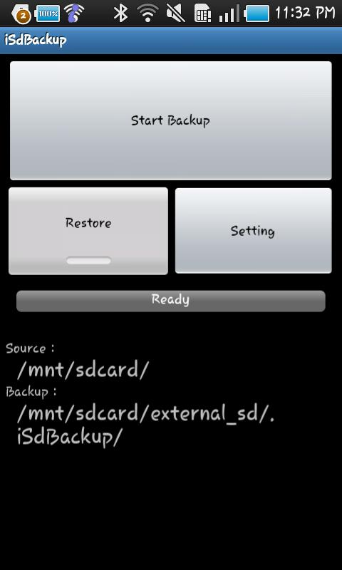 iSdBackup for Galaxy S / Tab Android Tools