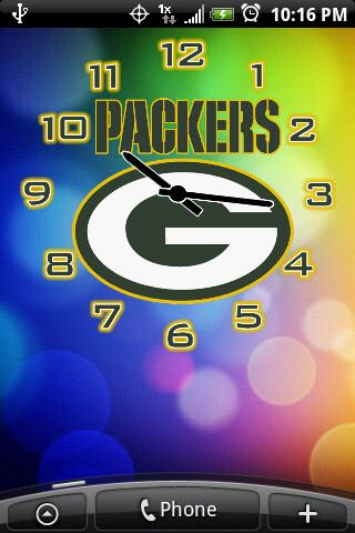 Green Bay Packers Clock Pack Android Personalization