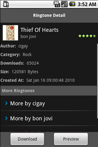 Bon Jovi Ringtones Android Entertainment