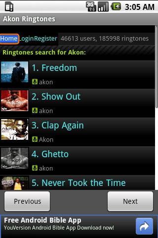 Akon Ringtones Android Entertainment