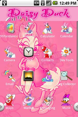 Daisy Duck Theme Android Personalization