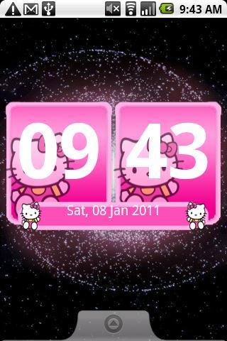 Digital Clock Hello Kitty Android Personalization