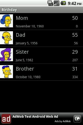 Birthday Widget Android Social