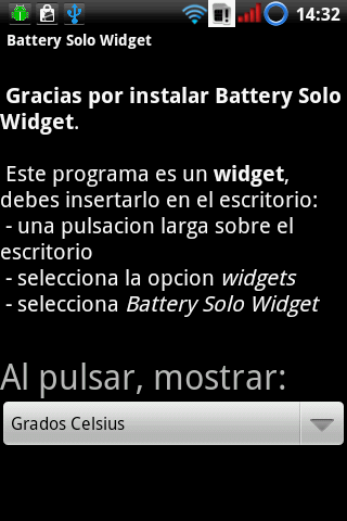 Battery Solo Widget Android Tools