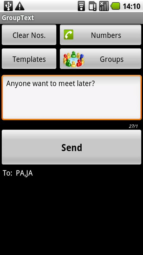 GroupText Android Communication