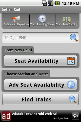 Indian Rail Info App Android Travel & Local