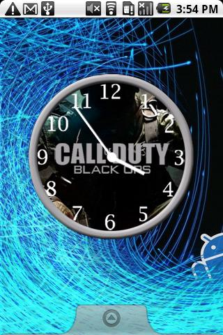 Call of Duty Clocks Android Personalization