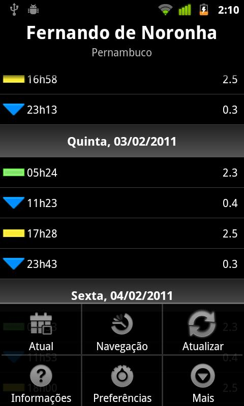 Tide Tables Brazil Light Android Weather