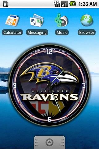 Baltimore Ravens Clock Widget Android Personalization