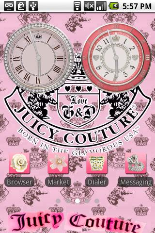 Juicy Couture Theme 3 Android Personalization