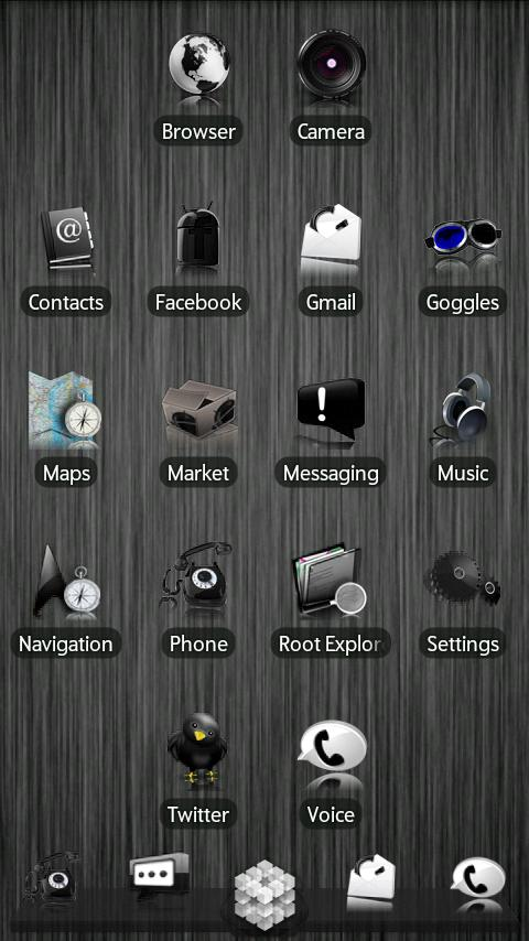 Black ADW Theme Android Personalization