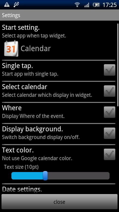 Event List Widget Android Tools