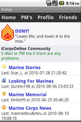 iCorps: USMC Pocket Reference Android Social