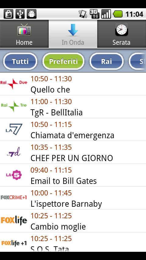 TV Guide Italy Android Entertainment