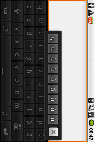DE keyboard on demand Android Business