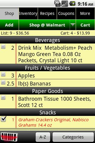 grocery tracker android shopping best android apps free download