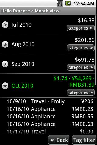 Hello Expense Android Finance