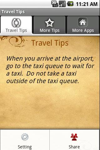 Travel Tips Android Travel & Local