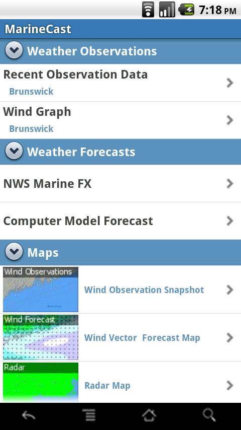 MarineCast Android Weather