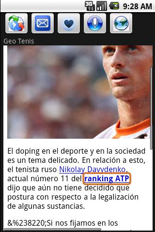Tenis Top Noticias Android Sports