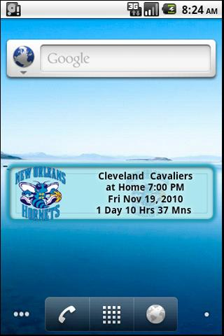 New Orleans Hornets Countdown Android Sports