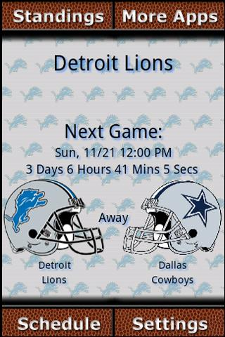 Detroit Lions Countdown Android Sports