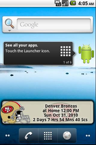 San Francisco 49ers Countdown Android Tools