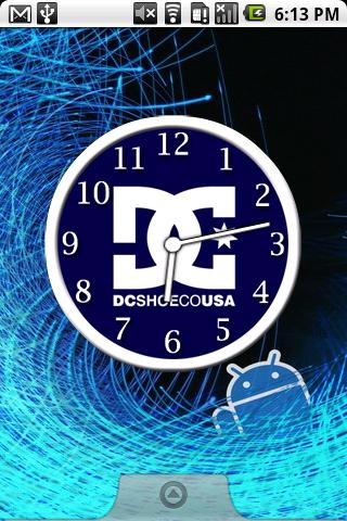 DC Shoes Clocks Android Personalization