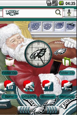 Eagles Sleepy Santa Android Personalization