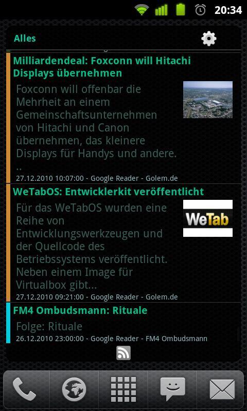 AtomaRSS Scrollable NewsWidget Android News & Magazines