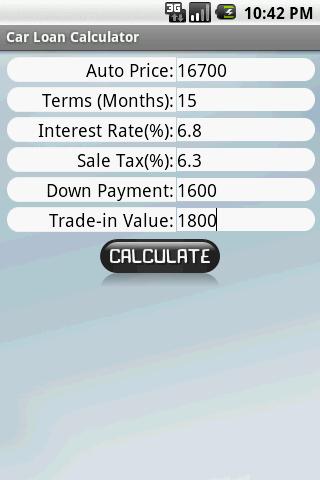 Car Loan Calculator Android Finance