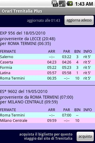 Italian Trains Timetable PLUS Android Transportation