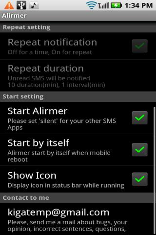 Alirmer Free (SMS/MMS) Android Communication